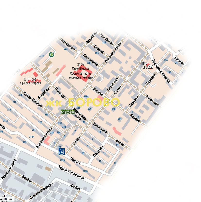 Vazhno Karta S Prilezhashite Teritorii Km 34 Ou 34 Ou